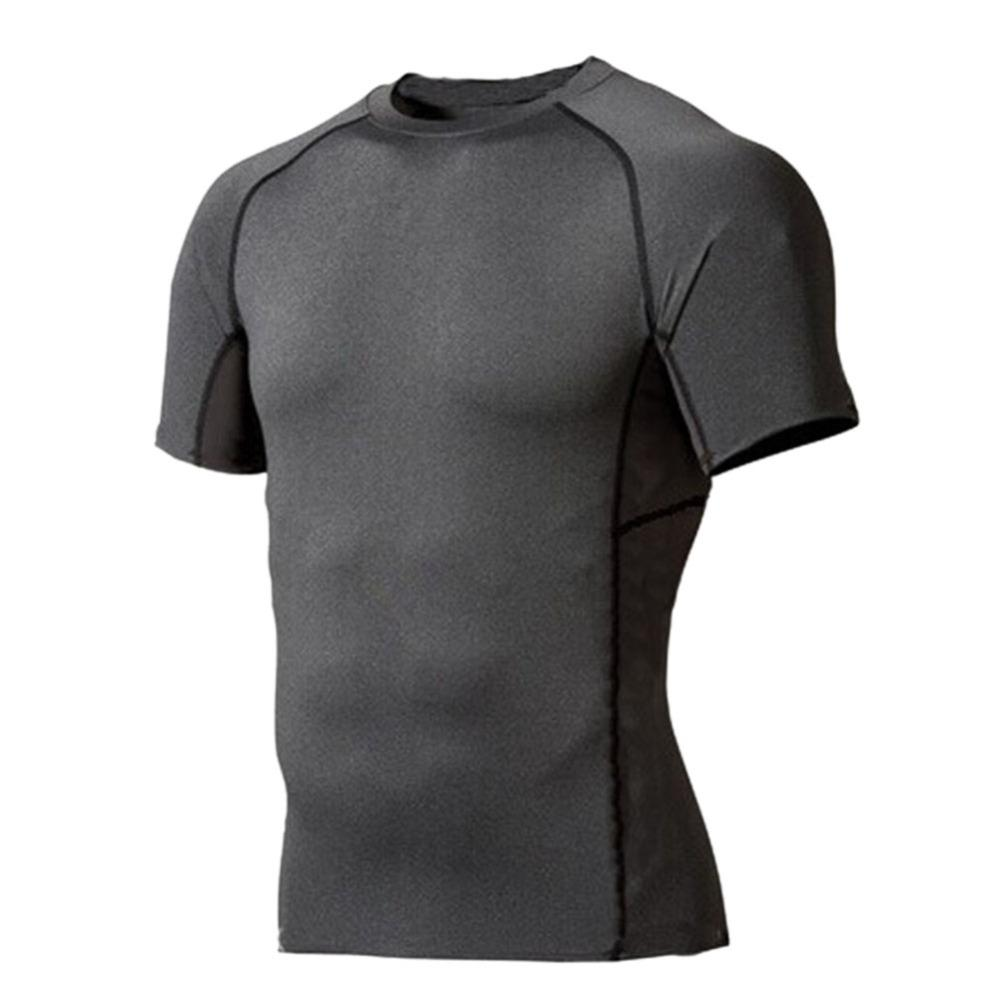 0e7865ee88c 2019 Men Compression Wear Under Base Layer Tops Tight Short Sleeve Sports T  Shirts From Jingtianwat
