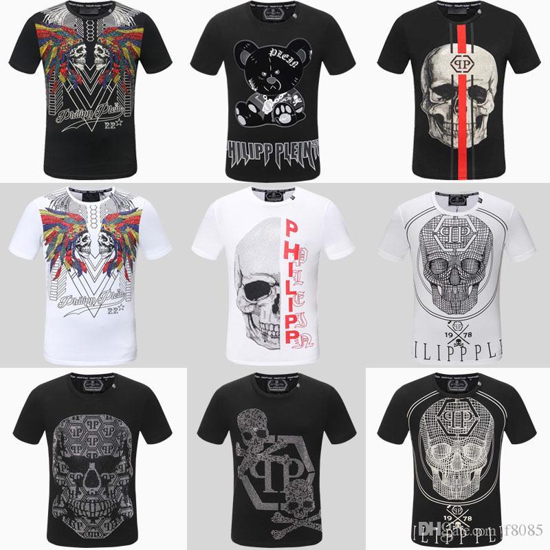 03db7353f 2019 Men's T-shirt Black 3D Printing T-shirt Hip-hop Skull Printing ...