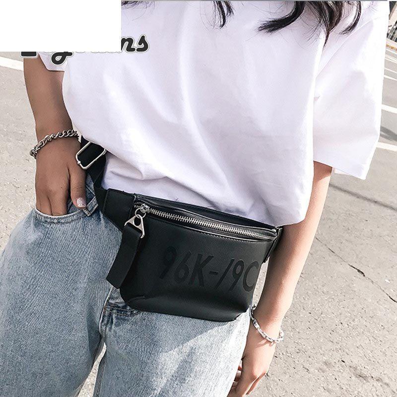 2ba25589e01 2019 Pu Leather Black Waist Bags Women Designer Fanny Pack Fashion Belt Bag  Female Mini Waist Pack Messenger Bolsa New Coin Bag