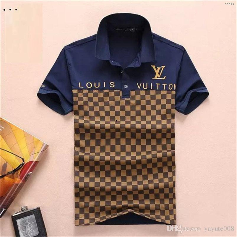 2019 Luxury Italy Tee T-Shirt Designer Polo Shirts High Street Embroidery Garter Snakes Little Bee Printing Clothing Mens Brand Polo Shirt