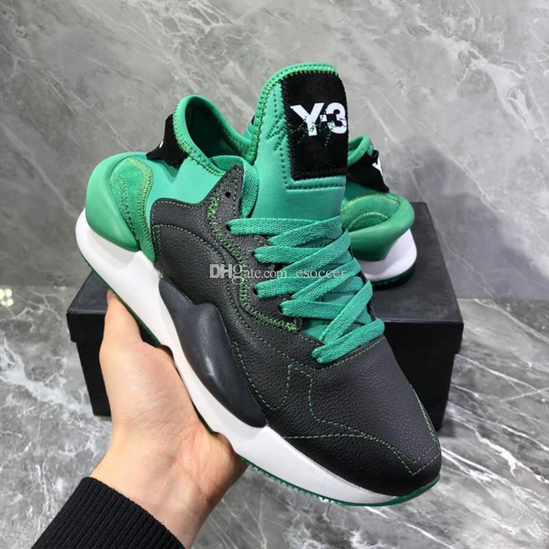 Mit Box Originals Qualität Herren Y3 Kaiwa Chunky Sneakers 2019 Damen Schuhe Unisex Herrenmode Y 3 Schwarz Grün Rot Weiß Schuhe Stiefel Y3