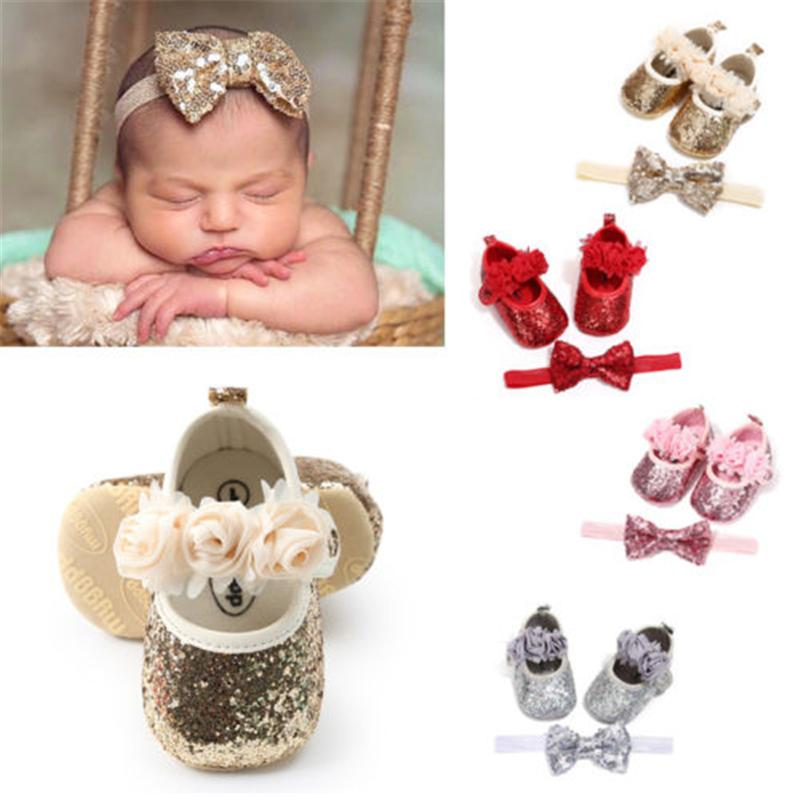 256143b0eb67b 0-18 Months Baby Girl Party Princess Shoes Toddler Kid Glitter Bowknot  Prewalker Hot New Sweet Flower Paillette Baby Girls Shoes