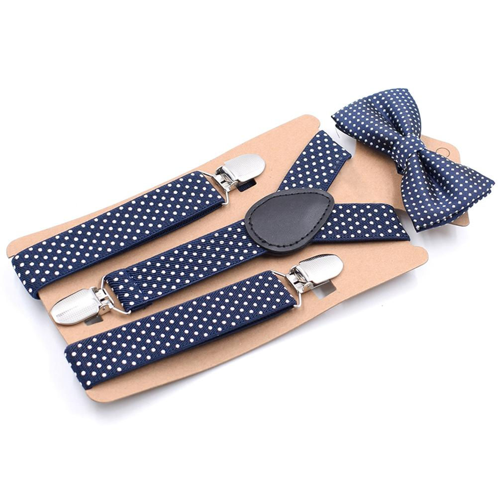 Children Suspender Clip Bow Tie Body Suit Causal Fashion Dot Cute Toddler Kids Set Boy Baby Girl Party