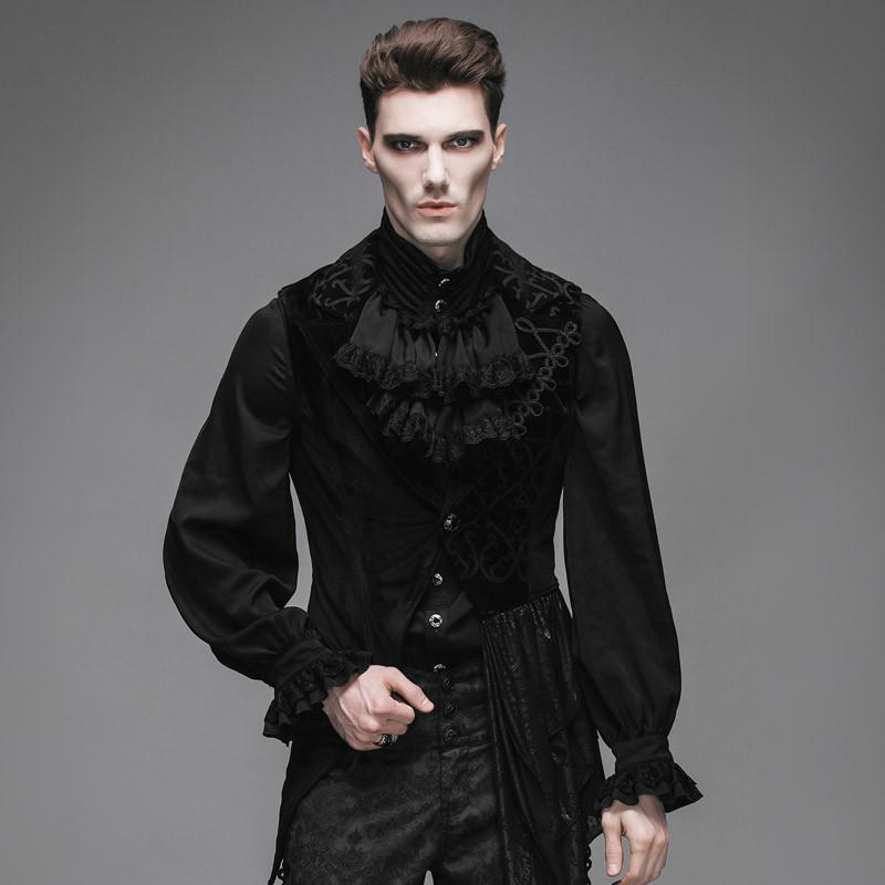 bf9e4e118 Steampunk Fashion Men's Waistcoat Sleeveless Male Asymmetric Dovetail  Jacket Vest