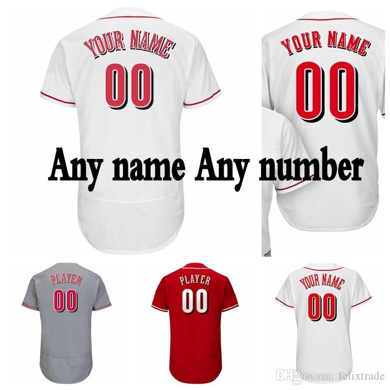 4dc7aac06 Custom Cincinnati Baseball Jersey 5 Johnny Bench Jersey 11 Barry ...