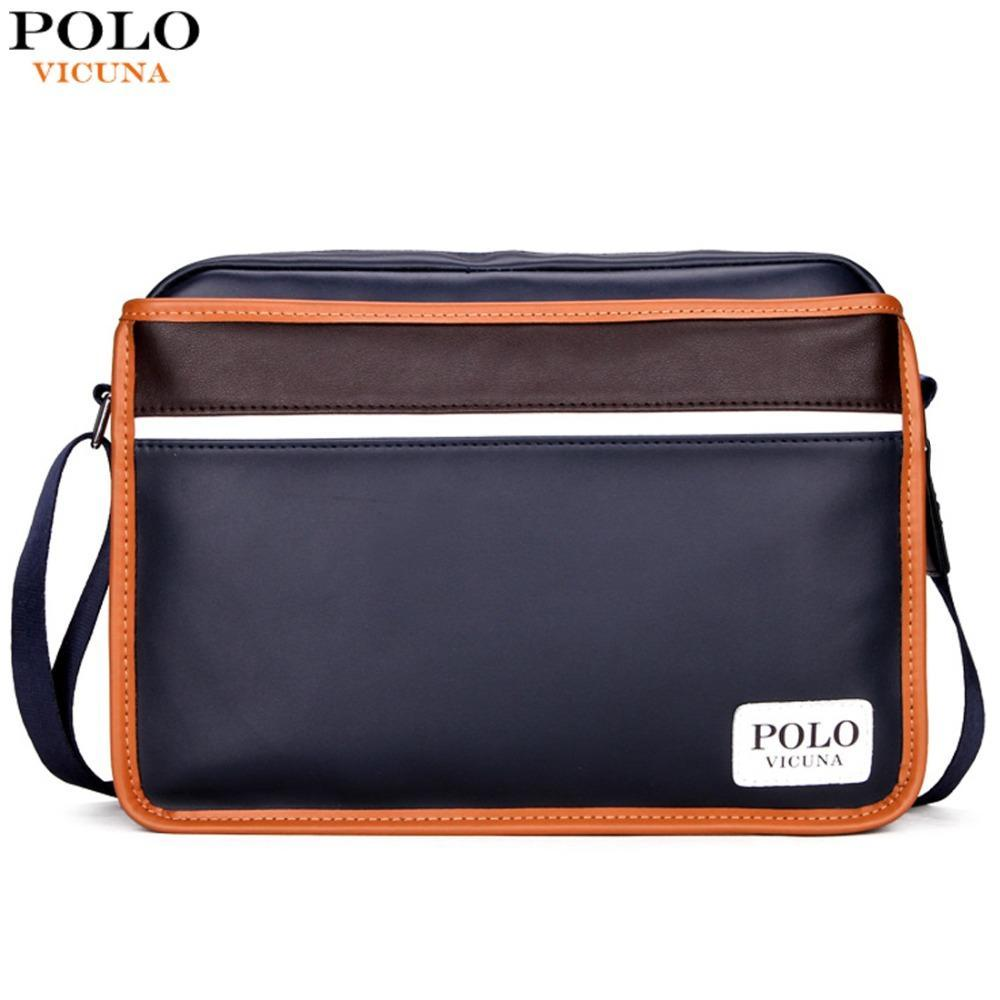 e65c107d323f VICUNA POLO Casual Patchwork Men Messenger Bags High Quality Mens Leather  Striped Bag Famous Brand Male Sling Crossbody Bags Womens Purses Women Bags  From ...