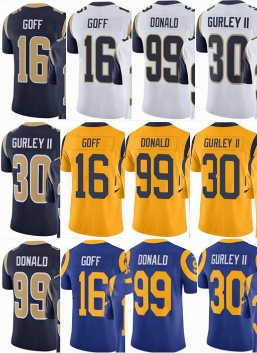 cf305e50 2019 Custom #16 Rams Jared Goff 30 Todd Gurley II 99 Aaron Donald Vapor  Untouchable Limited/Rush/Elite Jerseys #Hockey Jackets From Qqq852908942,  ...
