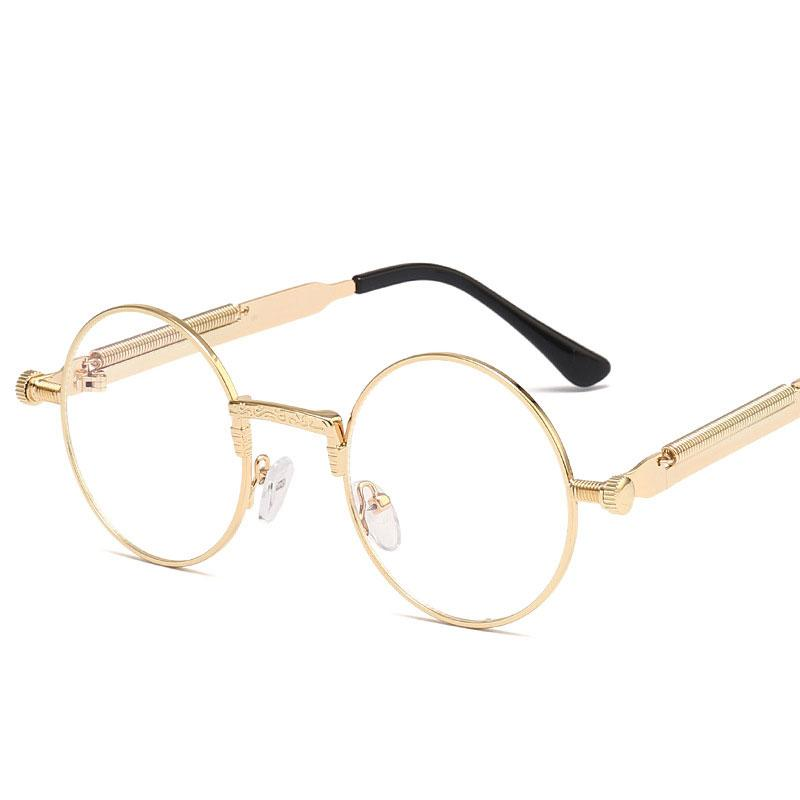 08d46c8da3 New 2019 Vintage Steampunk Sunglasses For Men And Women Round Gothic ...