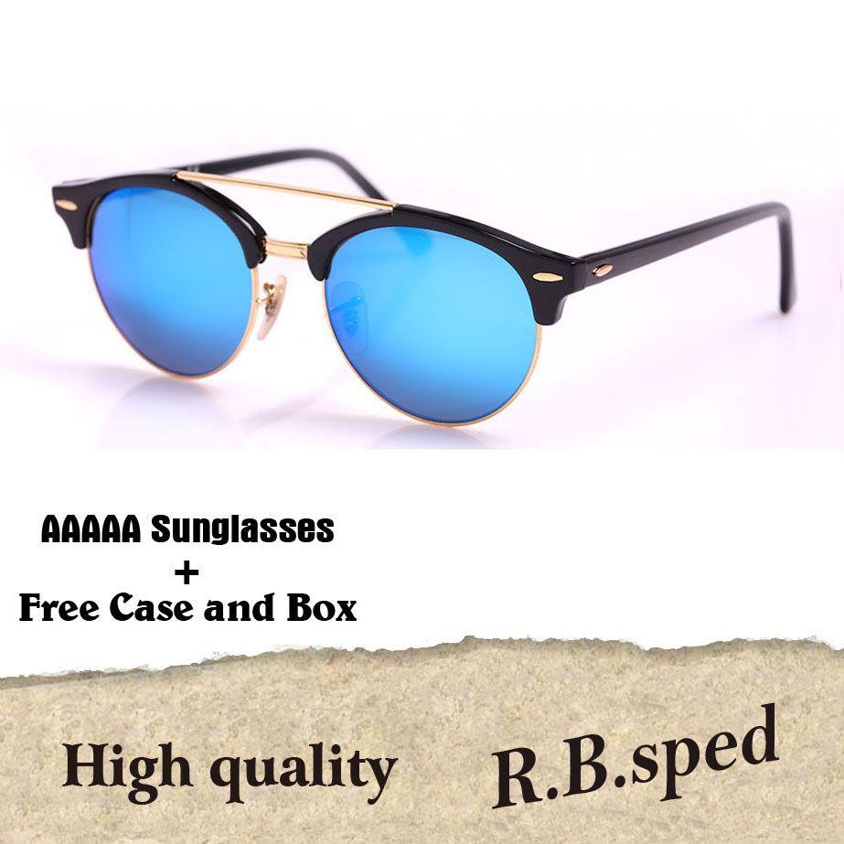 c3469b2472c5 Brand Design Round Sunglasses Women Men Glasses Points Retro Rivet Half  Metal Glass Lens Club Colorful Sun Glasses With Cases And Box Sunglasses Uk  ...