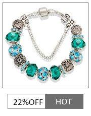 VIOVIA Lujo Antiguo Color Plata Pulseras Del Encanto Brazaletes Cristal de Murano Encanto Europeo Granos Pulseras Estilo de Verano B15175