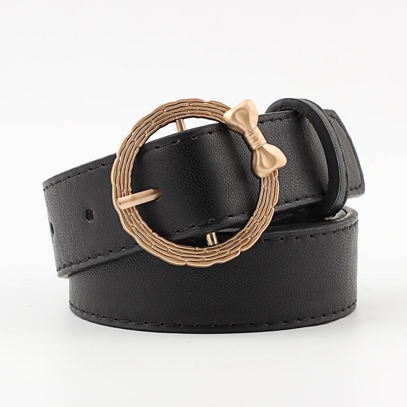 Mens Belt Leather Black Metal Buckle Casual Belts for Men Pu Leather Mens Waist Belt