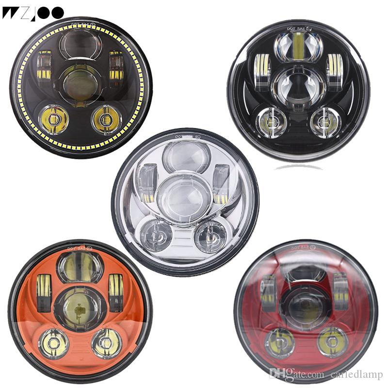 5 75 Inch Motorcycle Projector HID LED Light Bulb Headlight For Harley