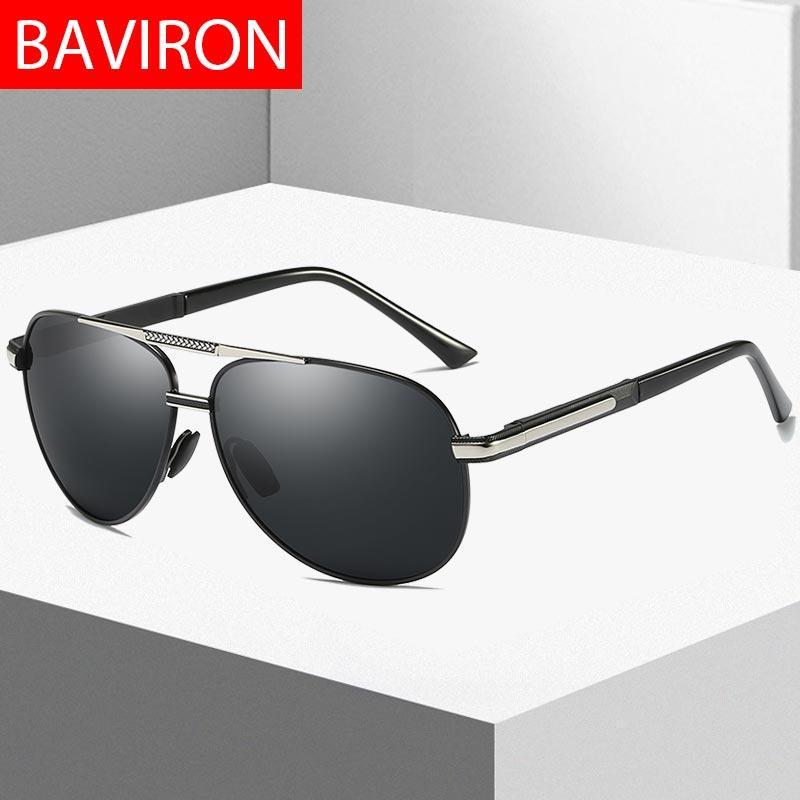 e967565eee Compre BAVIRON Lentes De Sol Polarizados Para Hombre De Piloto 100% UVA UVB  Gafas De Sol Hombre Clásico Gafas De Sol Influidor Espejo De Conducción  Nave De ...
