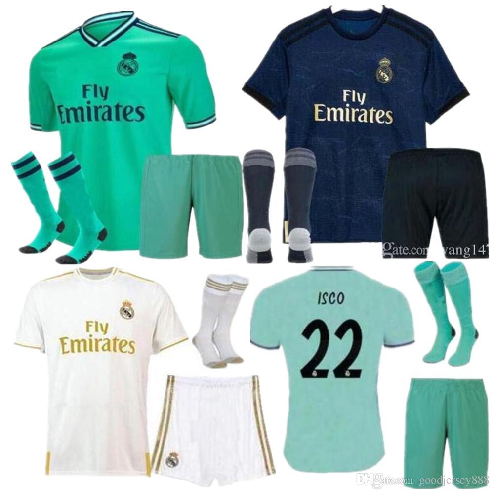 check out a2a22 36508 2019 20 Real Madrid Fußball Trikot KINDER Trikots mit Socken 19 20 Fußball  Trikot Asensio SERGIO MODRIC RAMOS MARCELO BALE ISCO Kinder Fußball Sets
