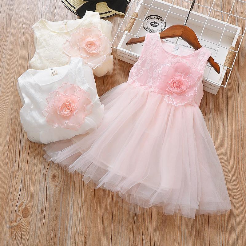 4e7c9d53a626 BibiCola summer girls dress fashion formal lace wedding party kids clothing  outfits children princess tutu dresses girls clothes