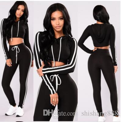 60fbf9f67e 2019 Autumn And Winter pink women tracksuit Sexy Exercise 2 piece woman set  Ladies New Style pink women sweat suits