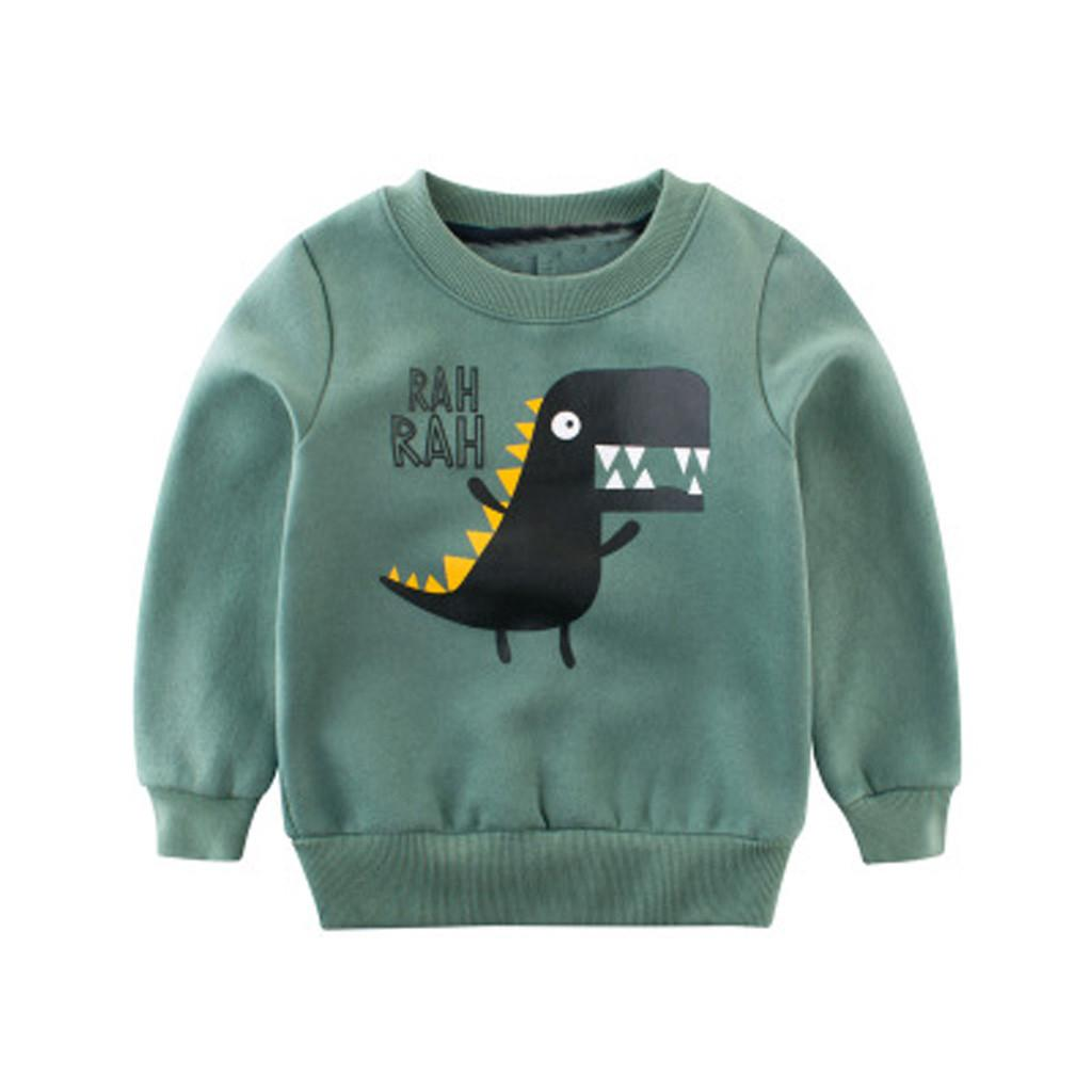 Kinderkleding Baby.2019 Todder Kid Baby Girl Boy Cartoon Letter Cartoon Sweatshirt