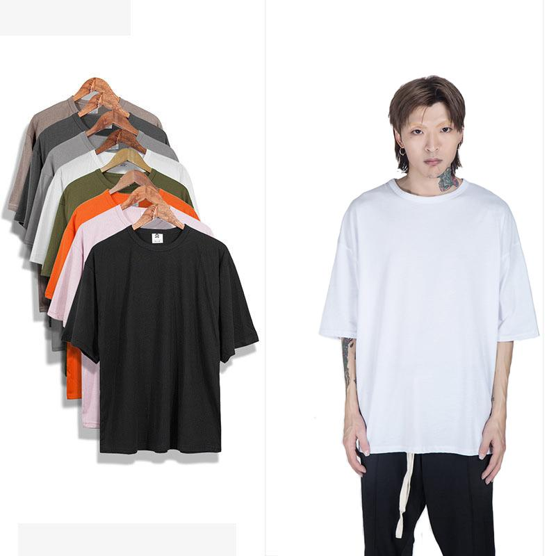 eab1f21bcaaa Oversized Shirt Kanye West S Xxl Fashion Plain Half Sleeve T Shirts Men  Loose Black Man Tshirts Harajuku Mens T Shirt C19041901 Design Own T Shirt  T Shirt ...