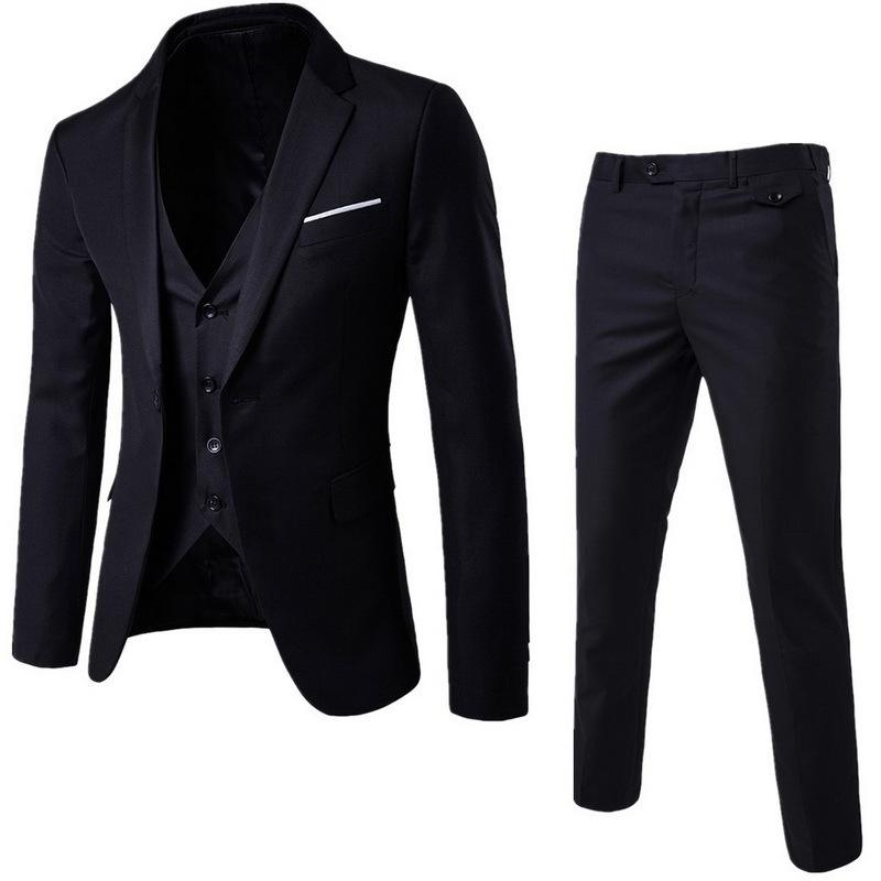 Compre NIBESSER Para Hombre 3 Unidades Blazers Pantalones Chaleco Traje  Social Tamaño Asiático Hombres Traje De Negocios Conjunto Casual Para  Hombre Trajes ... 9efc1d7dc23