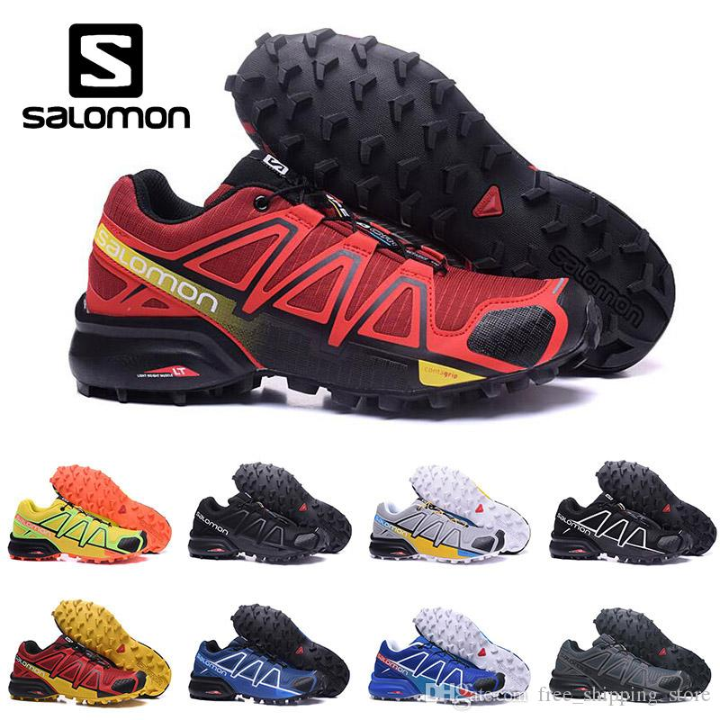 b0b20543d New Salomon Speed Cross 4 IV CS Trail Running Shoes For Men Women Black  White Blue Outdoor Hiking Athletic Sports Sneakers Size 40 46 Shoe Shop  Mens Sale ...