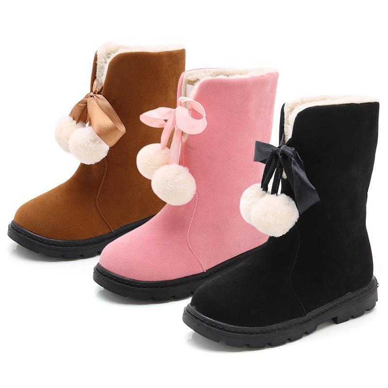 224f97774 Compre Niños Niños Botas De Nieve Gruesas Y Gruesas Zapatillas De Peluche Para  Niñas Pequeñas Niñas De Invierno Botas Zapatos Niños Nueva Moda Nieve A ...