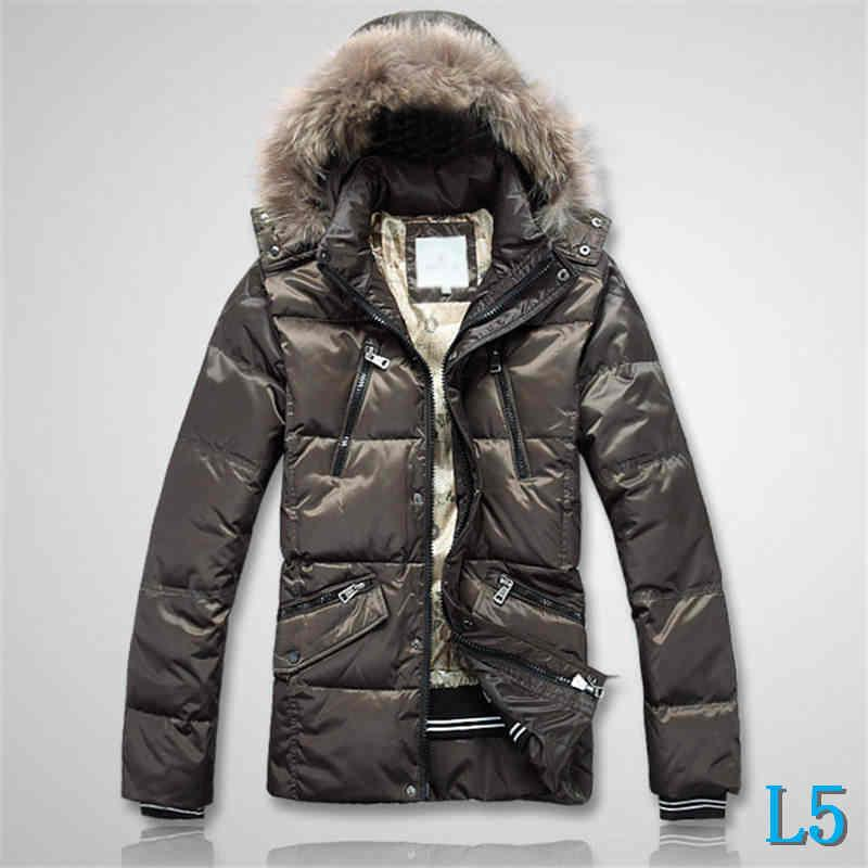 Mens Jacket Feather Style Down Coat Hooded Fur Thich Warm Windbreaker Fashion Brand Jacket Zipper Luxury Coat PocketsL5