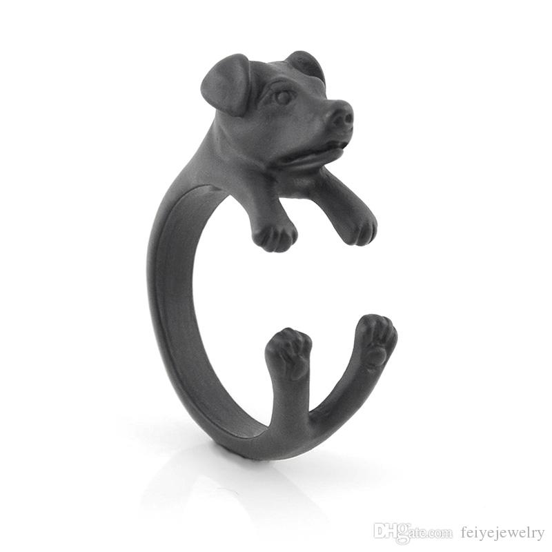Black Color Gothic Retro Style Mid Finger Adjustable Cute Pig Ring Anel Boho Farm Animal Metal Rings For Women Men Fashion Jewellery