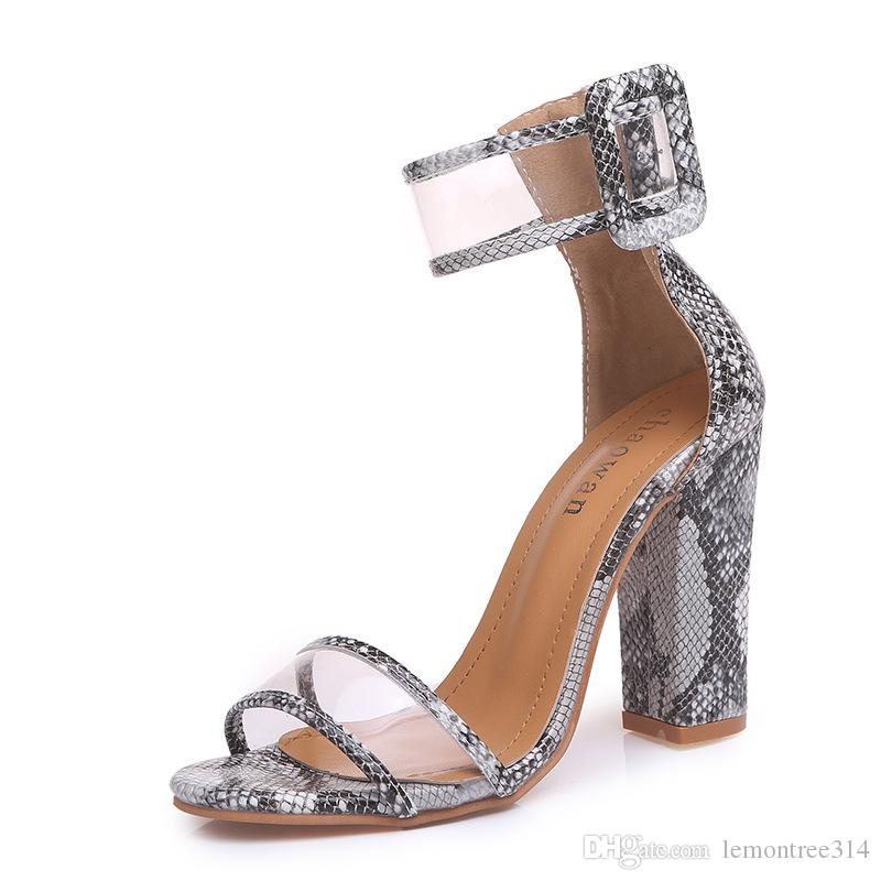 f49d2b10c07 Womens Sxey Open Toe Chunky High Heels Lady Ankle Strap Sandals Casual  Party Shoes Pumps Plus Size Shoes Brand New Chaco Sandals Jack Rogers  Sandals From ...