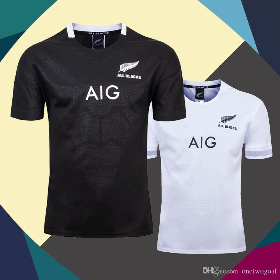 27b65d55f23be Compre Hot 2019 2020 ALL BLACKS Rugby Jerseys Local Lejos Nueva Zelanda  Maori Camiseta All Blacks Hombres Rugby World Cup League Tamaño S XXXL  Envío Rápido ...