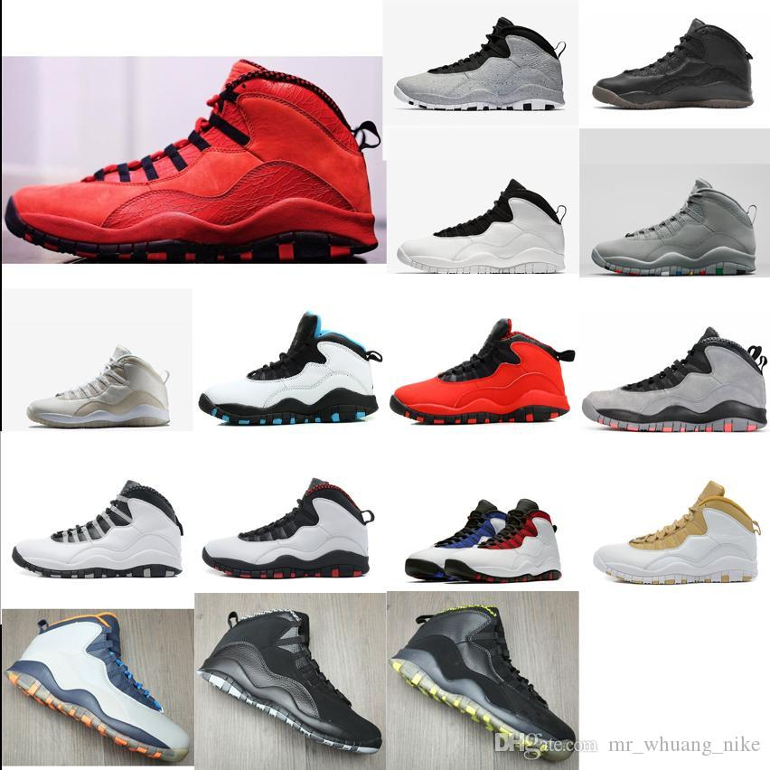 2160843af4d1c0 2019 Mens Retro 10s Basketball Shoes J10 Westbrook Cement Cool Grey LA White  Black OVO PSNY Oreo Red Aj10 Jumpman 10 X Sneakers Boots With Box From ...