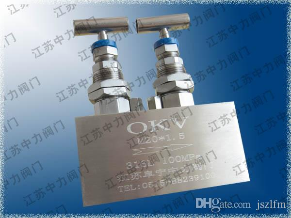 100MPa stainless steel ultra high pressure double valve group