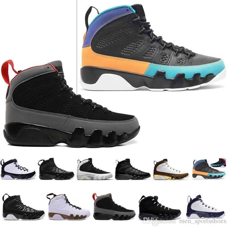Cheap New 9 Outdoor Shoes Men blue space Jam Anthracite Copper Statue Barons Suede Fabric 9s IX Spring Sports Tennis Mens Sneakers
