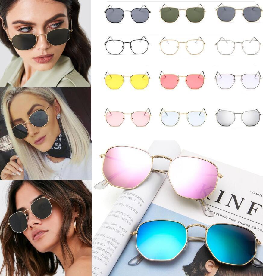 9a1f8e7c902 2019 Fashion Men Women Sunglasses Polygonal Sunglasses Clear Lens ...