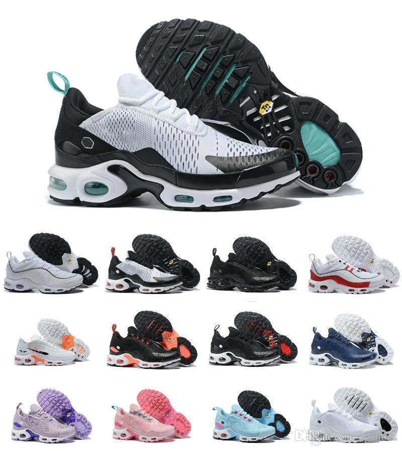 the latest 1c1ee eec50 Acheter 2019 New Air Tn 270 Chaussures De Course 97 98 Plus Tn Ultra  Mercurial Hommes Chaussures Femmes Formateurs Baskets De Sport Designer  Marque Run Run ...