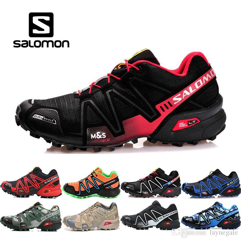 super popular bceb3 6c930 2019 New Arrive Salomon Speed Cross 3 CS III Running Shoes Mens Shoe Cross  Country Black Silver Outdoor Sport Shoes Running Sneakers Shoes Mens Trail  ...