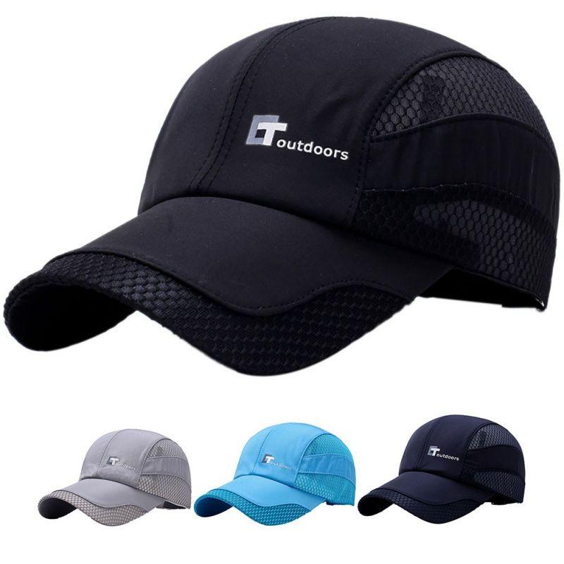 2018 Outdoor Running Sport Hats Summer Men Breathable Mesh Cap Sport ... f7130ce202f