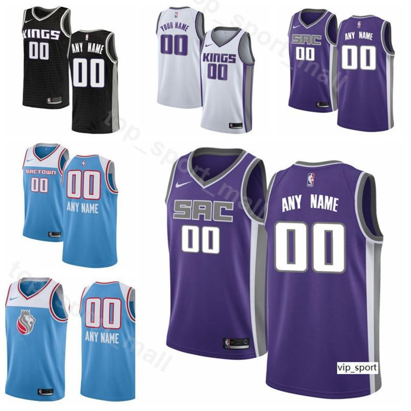 low priced 986ed 47242 Print Man Kids Woman Sacramento Basketball Willie Cauley-Stein Jersey City  Nemanja Bjelica Corey Brewer Harry Giles III Ferrell Shirts