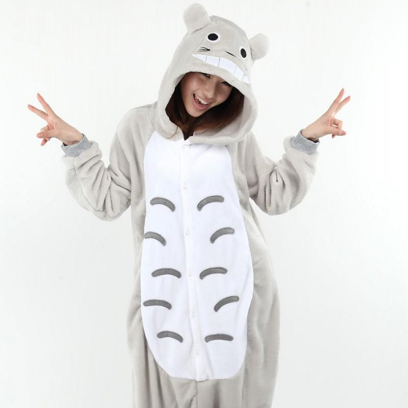 8a2f442ec3dc 2019 Costumes Full Flannel Totoro Pijamas Pajamas Pyjamas For Womens Adult  Onesies SleepWear Home For Cheep Clothing Plus Size AS XXL From Ganeir