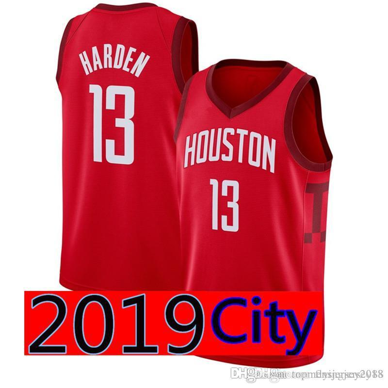 quality design 64ae3 816ee Red Houston James 13 Harden Rockets City Jersey Men Embroidery Basketball  Jerseys Top sales S-XXL Cheap wholesale