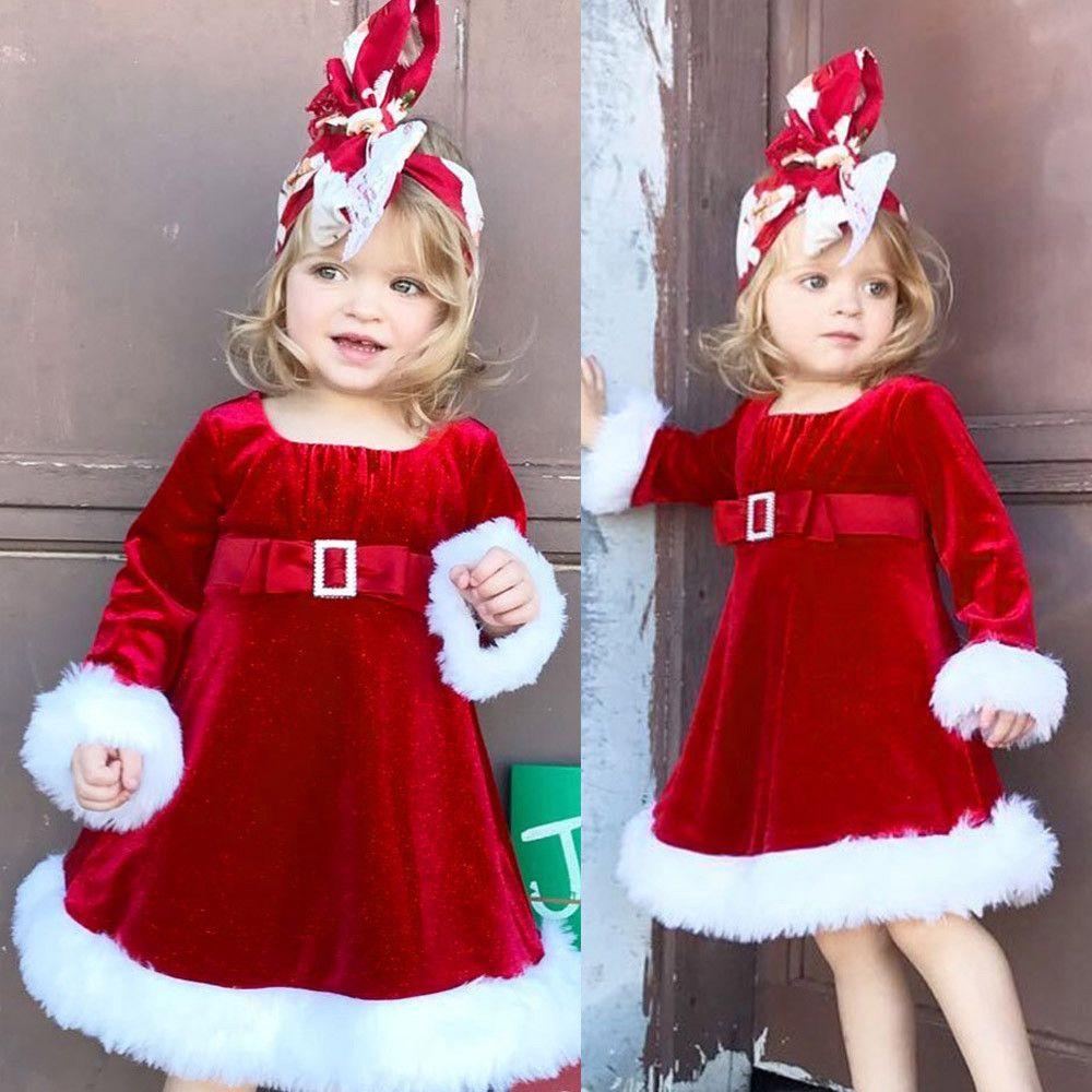 eb64ad2cc3ba8c Großhandel Gute Qualität Mode Kleider Kinder Baby Mädchen Weihnachten Rote  Prinzessin Kleid Flauschige Kleidung Outfit Mädchen Kostüm Meisjes Jurk Von  ...