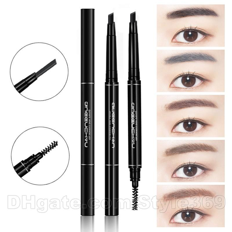 Brown Hot Women Pen Eyebrow Pencil Waterproof Eyebrow Comb Brush Makeup Tool Hottest 100% Original Eye Shadow Applicator