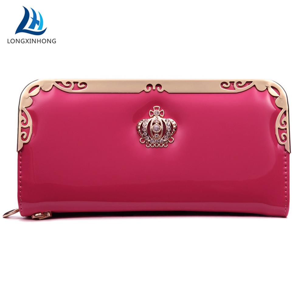 c35342349ce Walet Luxury Long Leather Clutch Women Wallet Coin Purse Cuzdan Vallet Card  Holder Kashelek Phone Money Bag Portomonee Portfolio