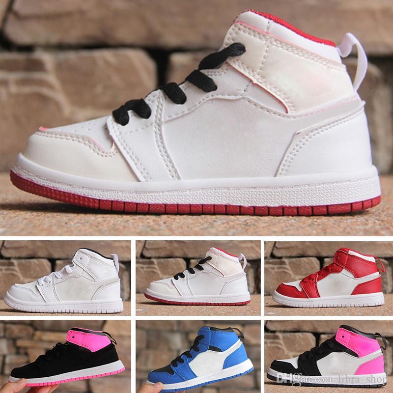 promo code 6d149 0bb5d Compre Nike Air Jordan 1 Retro Mid OG 1 Top 3 Zapatillas De Baloncesto Para  Niños 1s Homenaje A Un Hogar Bredado Bred Chicago Royal Blue Shattered  Backboard ...