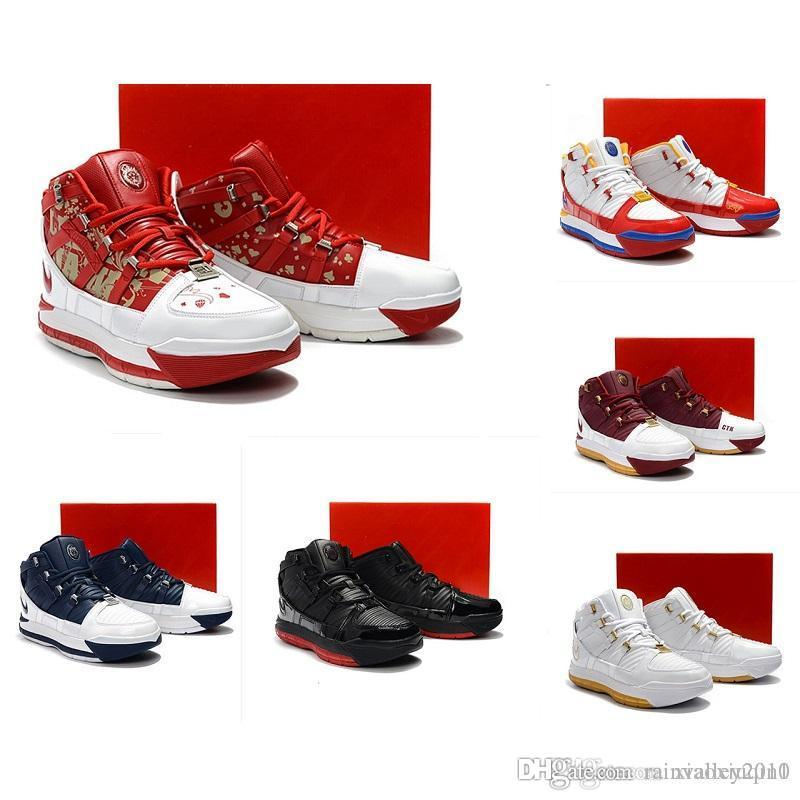 d587df9883299d 2019 What The Lebron 3 Mens Basketball Shoes For Sale Retro MVP ...