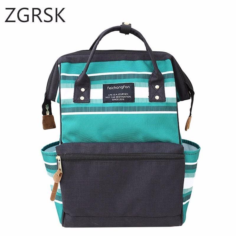 67b08608ae5 School Women Backpack Nylon Casual College Bookbag Female Retro Stylish  Daily Travel Bags For School Teenage Girls Backpack Swiss Army Backpack  Black ...