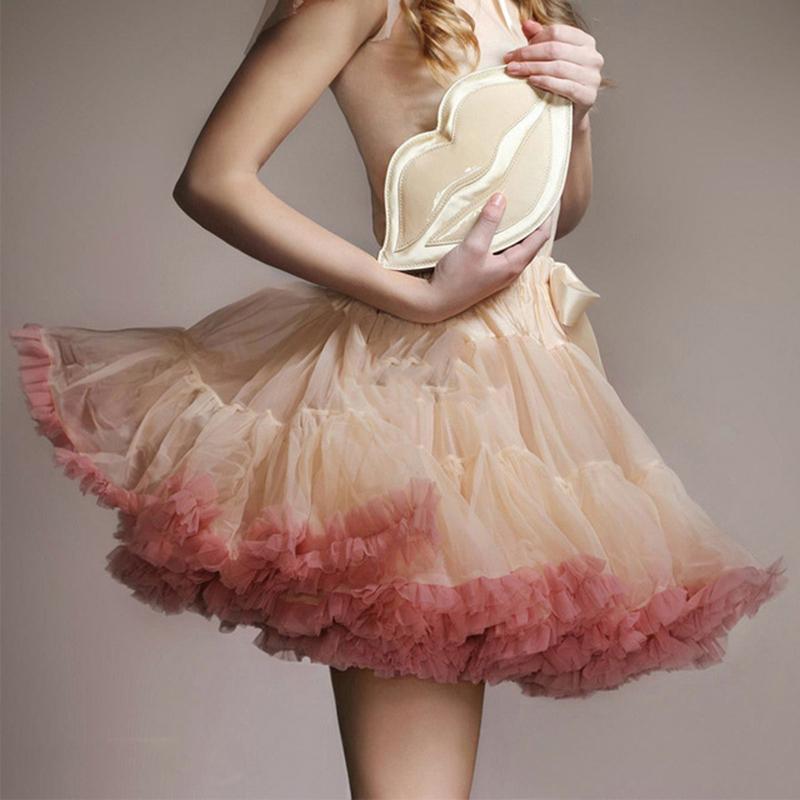 c136cd19f Falda del tutú de las mujeres Ballet Pettiskirt 3 Capa Fluffy Tamaño  Completo Niños Faldas de Ballet Para Fiesta Danza Princesa Chica Tul  Minifalda ...