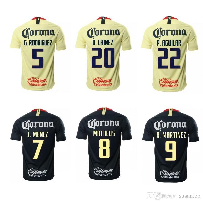 a42a46d4ead 18 19 América Soccer Jersey Home Away Cheap Shirts ITURBE MARTINEZ ...