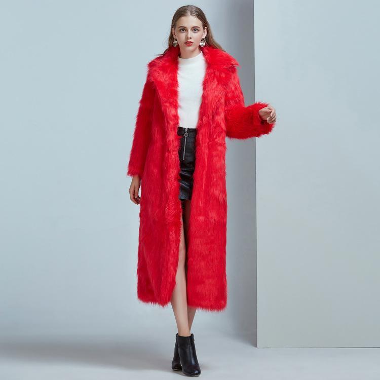 6fbad18d016 2018 Women Long Faux Fox Fur Long Coat Winter Warm Jacket Windbreaker Lady  2018 New Comfort Trench Parkas Plus Size Flight Jackets Custom Leather  Jackets ...
