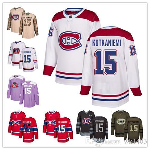 sale retailer c8c4b 5460d Montreal Canadien jerseys 15 Jesperi Kotkaniemi Jersey hockey men women  youth white red home away Stiched Fanatics authentic classic Jerseys