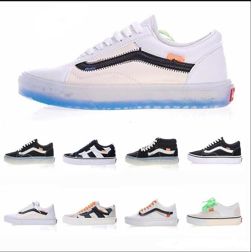 c98476d5f4ba 2018 Vans Old Skool Rainbow Canvas Casual Running Sneakers Men Shoes ...